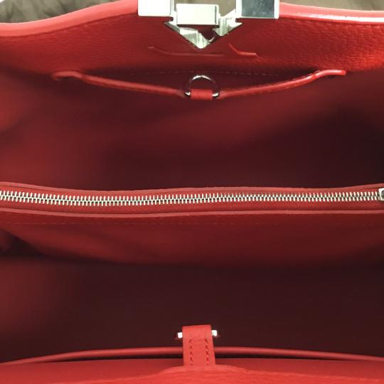 Louis Vuitton Satchel in Red Image 5