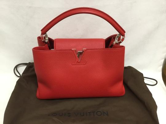 Louis Vuitton Satchel in Red Image 8