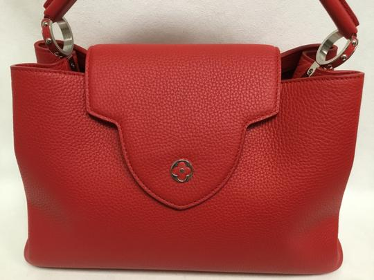 Louis Vuitton Satchel in Red Image 9