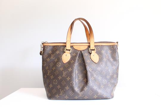 Louis Vuitton Lv Palermo Pm Tote Satchel in Brown, brass Image 1
