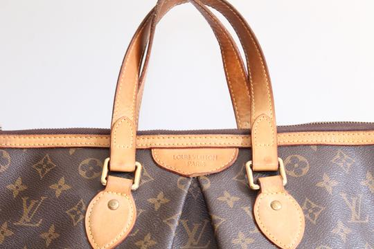 Louis Vuitton Lv Palermo Pm Tote Satchel in Brown, brass Image 4