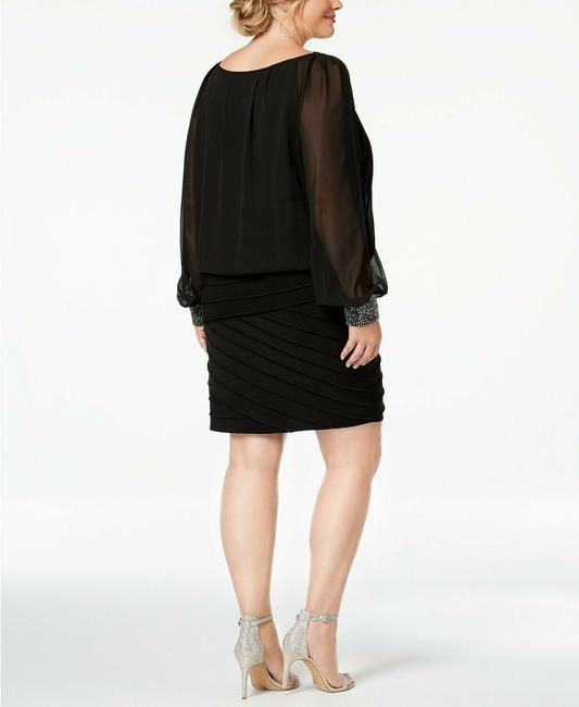 Betsy & Adam Long Sleeves Plus-size Cocktail Dress Image 1