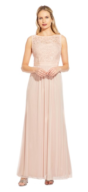 Preload https://img-static.tradesy.com/item/25431932/adrianna-papell-blush-sleeveless-tulle-gown-with-sequin-scroll-embroidery-long-formal-dress-size-8-m-0-0-650-650.jpg