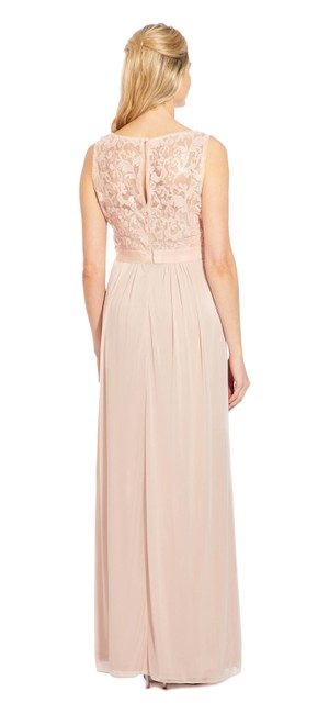 Adrianna Papell Embroidered Sequin Tulle Sleeveless Dress Image 1