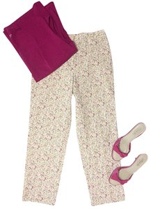 Incotex Capri/Cropped Pants Pink & Yellow