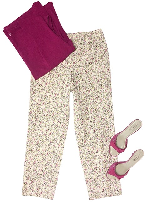 Preload https://img-static.tradesy.com/item/25431968/pink-and-yellow-italian-made-floral-pants-size-6-s-28-0-1-650-650.jpg