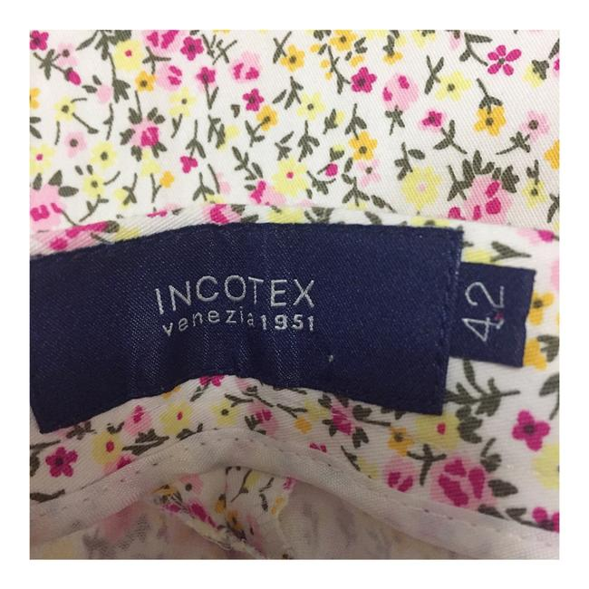 Incotex Capri/Cropped Pants Pink & Yellow Image 5