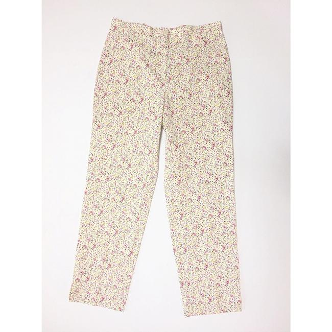 Incotex Capri/Cropped Pants Pink & Yellow Image 6