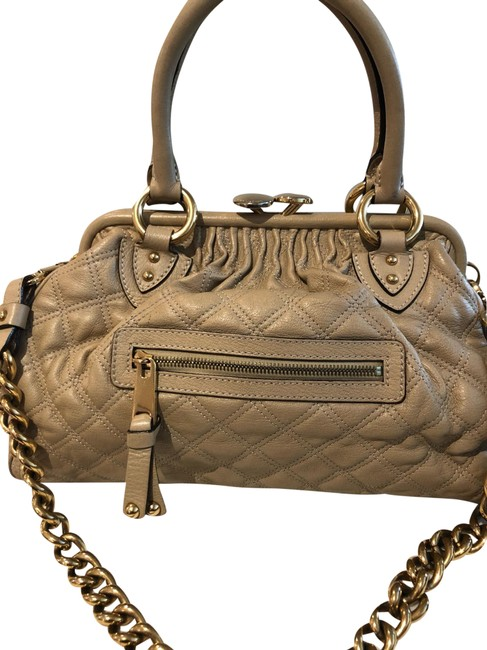 Item - Quilted Stam Beige Leather Satchel