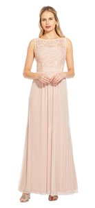 Adrianna Papell Embroidered Sequin Tulle Sleeveless Dress