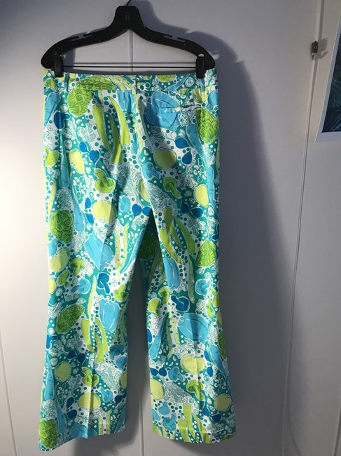 Lilly Pulitzer Stretch Fruit Print Belt Loops Flare Pants Multi-colored Image 2