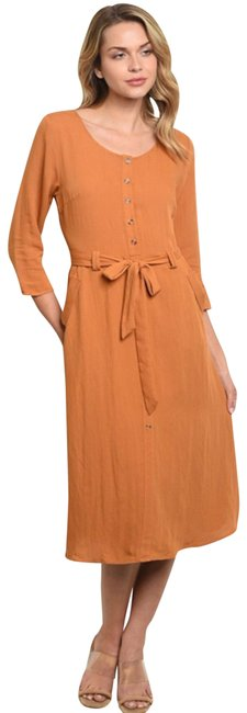 Preload https://img-static.tradesy.com/item/25432102/camel-button-down-mod-midi-mid-length-casual-maxi-dress-size-8-m-0-1-650-650.jpg