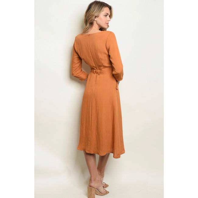camel Maxi Dress by Polagram Image 1