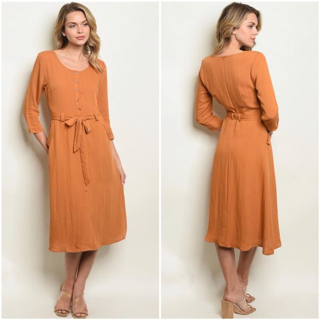 camel Maxi Dress by Polagram Image 2
