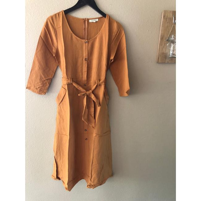 camel Maxi Dress by Polagram Image 3