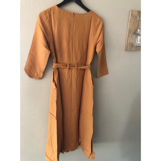 camel Maxi Dress by Polagram Image 4