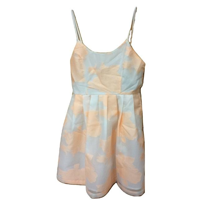 Preload https://img-static.tradesy.com/item/25432155/jealous-tomato-peach-and-white-shadow-stripe-floral-print-short-cocktail-dress-size-4-s-0-0-650-650.jpg