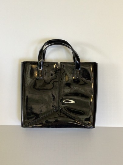 DKNY Purse Leather Patent Black Clutch Image 1