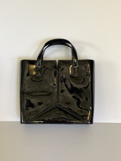 DKNY Purse Leather Patent Black Clutch Image 2
