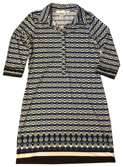 Preload https://img-static.tradesy.com/item/25432189/max-studio-blue-green-and-white-collared-stylish-short-casual-dress-size-4-s-0-1-650-650.jpg