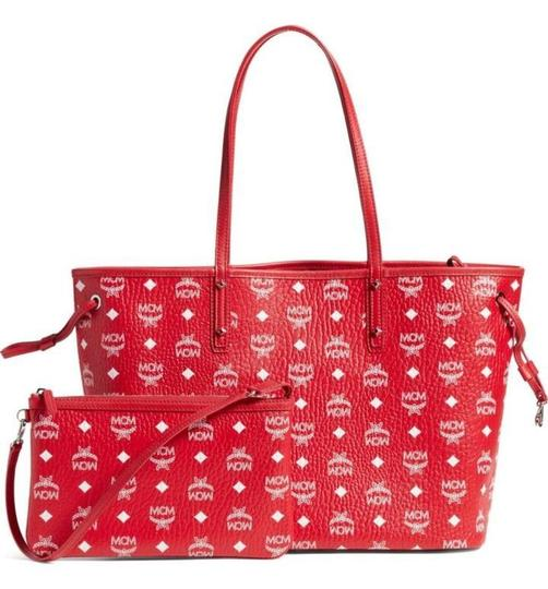 MCM Tote in red Image 7