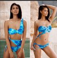 Beach Bunny beach bunny Chanel wrap tie dye swimsuit set Image 1