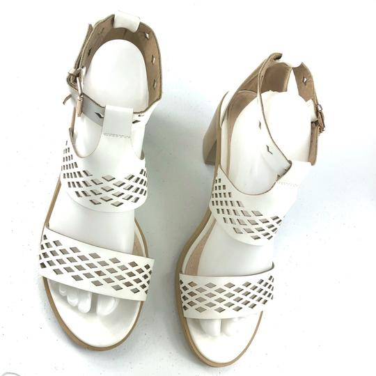 French Blu White Sandals Image 1