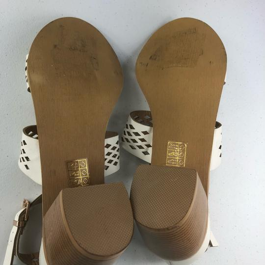 French Blu White Sandals Image 11