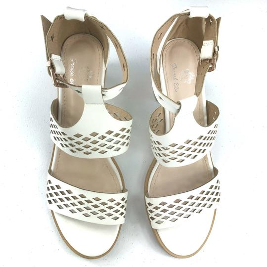 French Blu White Sandals Image 2