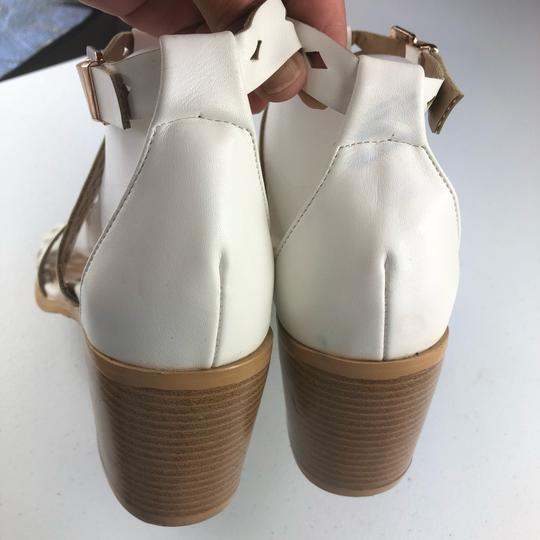 French Blu White Sandals Image 4
