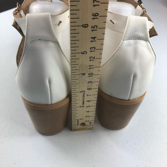 French Blu White Sandals Image 5