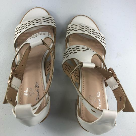 French Blu White Sandals Image 6