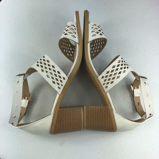 French Blu White Sandals Image 7