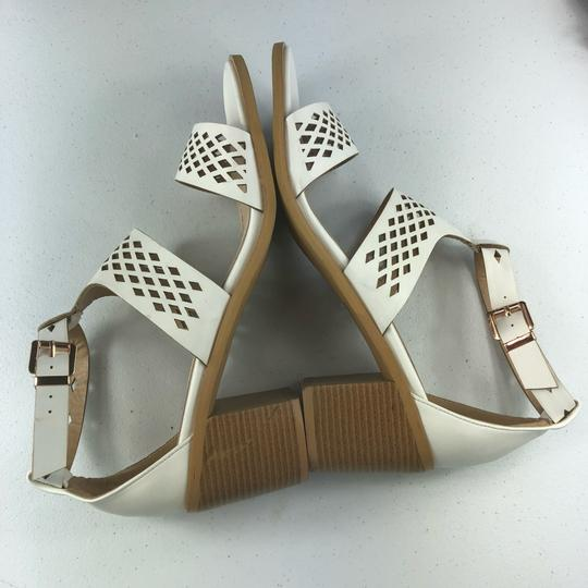 French Blu White Sandals Image 8