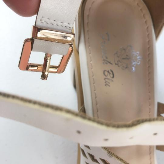 French Blu White Sandals Image 9