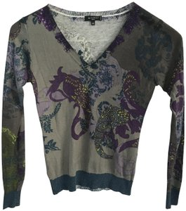 Etro Silk Cashmere V Neck European Size 40 Sweater
