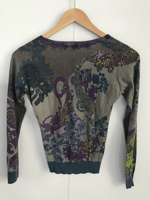Etro Silk Cashmere V Neck European Size 40 Sweater Image 1