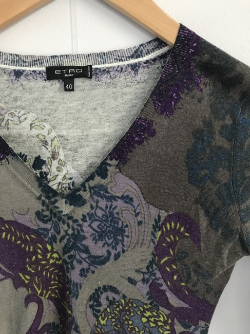 Etro Silk Cashmere V Neck European Size 40 Sweater Image 2
