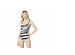 daf489686d2f6 Michael Kors NWT MICHAEL KORS STRIPE GROUP STRAPPY ONE PIECE SWIMSUIT 6  $124 SWIM