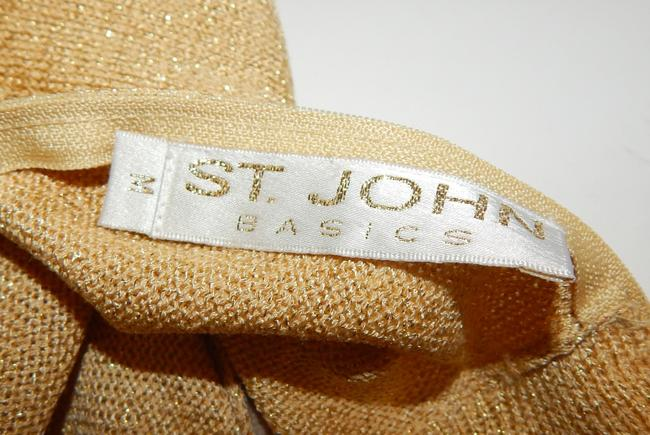 St. John Metallic Knit Sweater Image 4