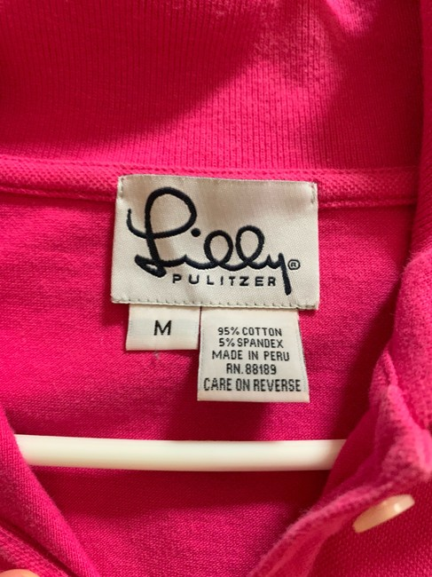 Lilly Pulitzer Button Down Shirt Pink Image 3