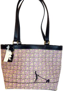 Summer Tompkins Poodle Straw Leather Tote in Pink