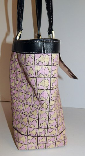 Summer Tompkins Poodle Straw Leather Tote in Pink Image 4