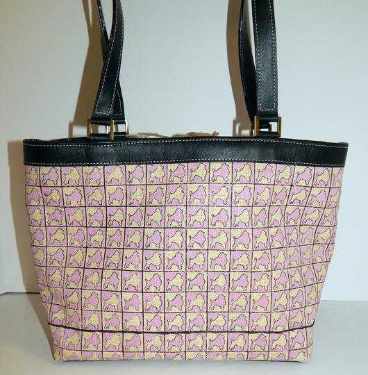 Summer Tompkins Poodle Straw Leather Tote in Pink Image 6