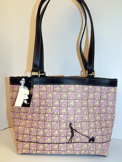 Summer Tompkins Poodle Straw Leather Tote in Pink Image 9