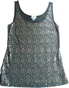 Old Navy Party Night Out Top Grey, silver sequin