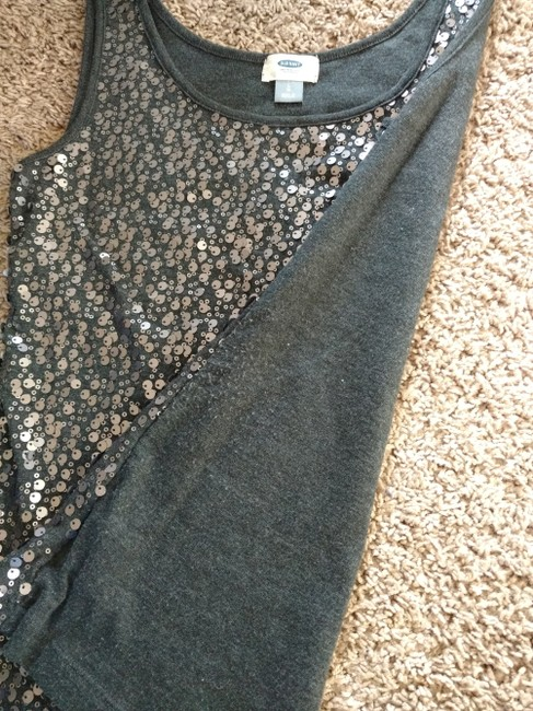 Old Navy Party Night Out Top Grey, silver sequin Image 1