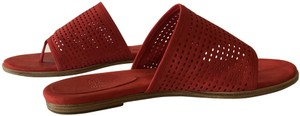 Eileen Fisher Suede Perforated red Sandals