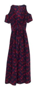 Blue, Red Maxi Dress by Madewell