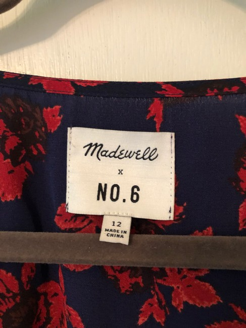 Blue, Red Maxi Dress by Madewell Image 3